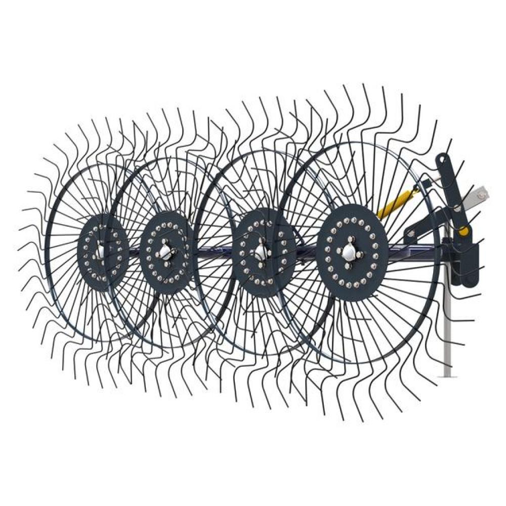 Грабли ворошилки СКАУТ PL-4600 для трактора, четыре колеса сгребания