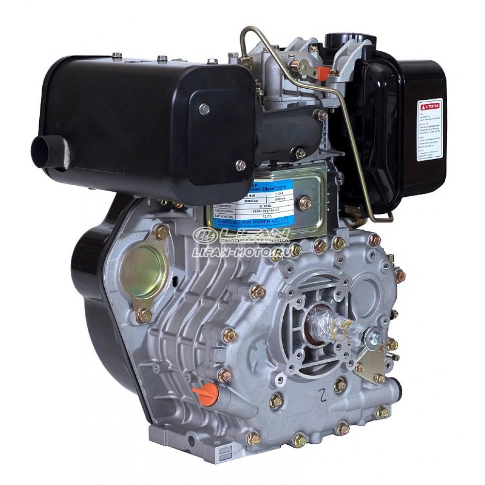 Двигатель Lifan 188F Diesel, вал Ø25 мм