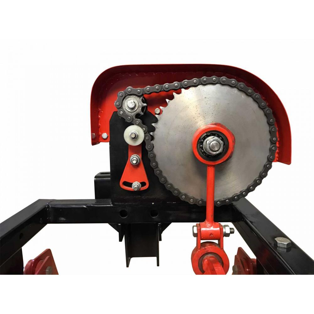 Картофелевыкапыватель вибрационный под ВОМ на втулках (кардан, надувн. колесо)
